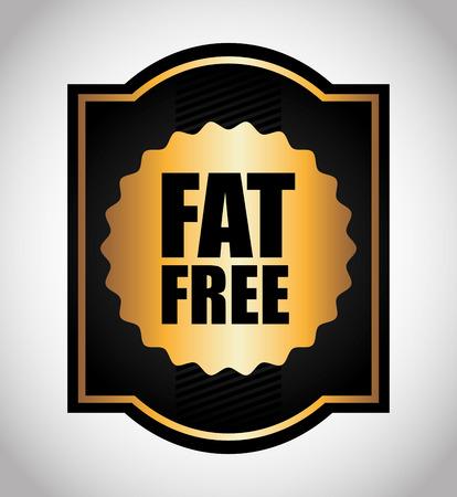fat free design, vector illustration     イラスト・ベクター素材