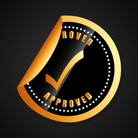 seal of approval: seal of approval design, vector illustration    Illustration