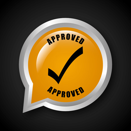 seal of approval: seal of approval design, vector illustration
