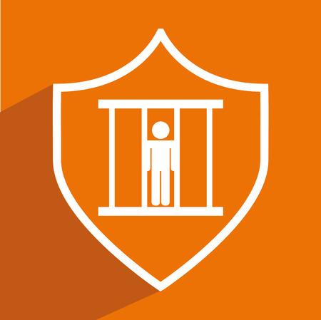 tribunal: justice icon design, vector illustration