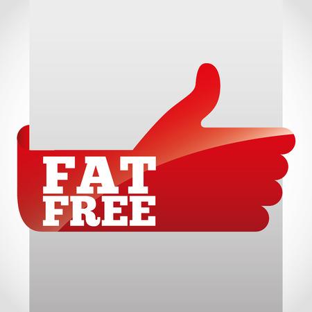 lowfat: fat free design, vector illustration    Illustration