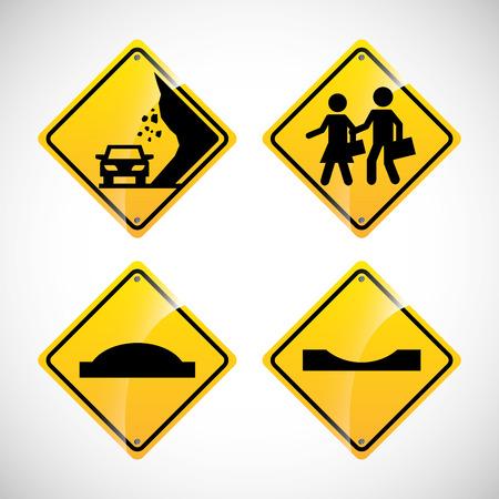 sign set: road signals design, vector illustration