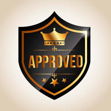 approved: approved seal design, vector illustration