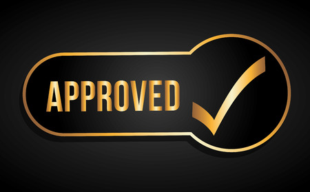 permission: seal of approval design, vector illustration