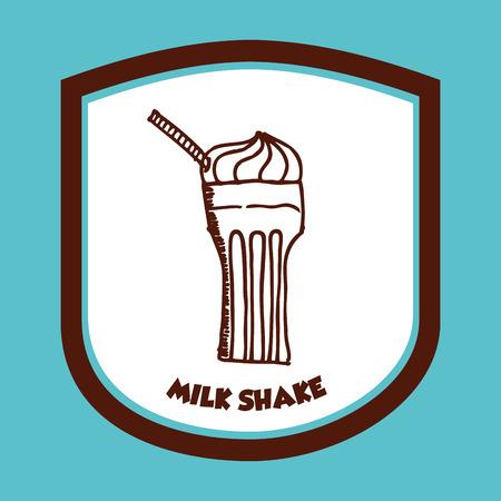 milk shake: milk shake design, vector illustration    Illustration