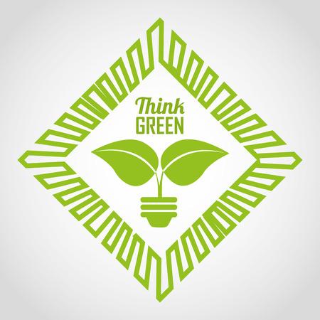 gree: eco friendly design, vector illustration   Illustration