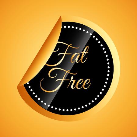 fat free design, vector illustration