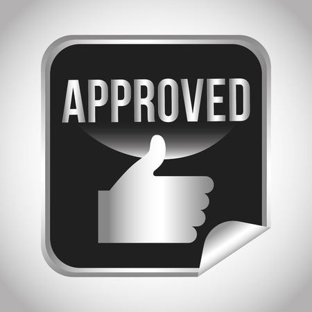 approval button: seal of approval design, vector illustration