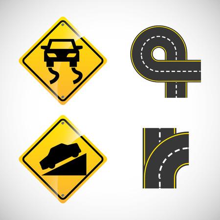 signals: road signals design, vector illustration