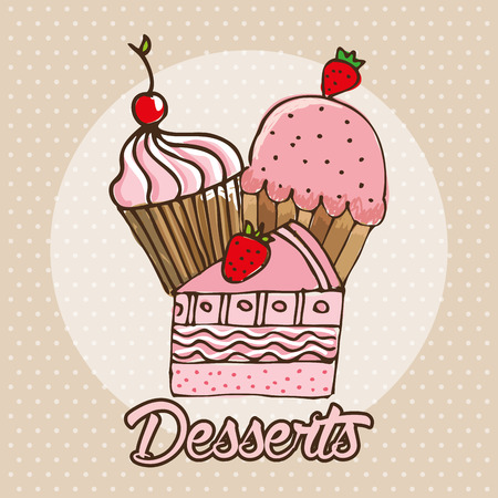 delicious: delicious dessert design, vector illustration
