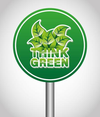 conviviale: eco friendly design, vector illustration   Illustration