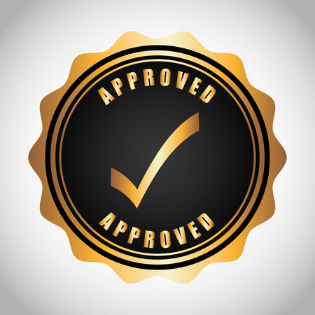 authorized: seal of approval design, vector illustration