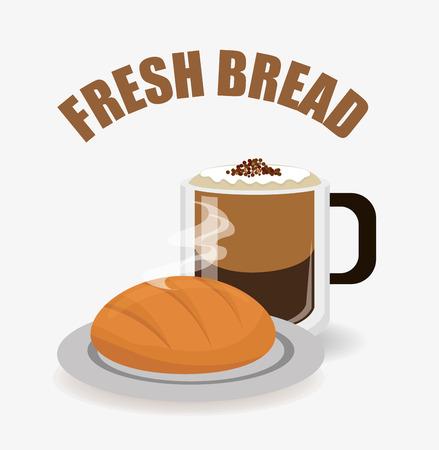 nutriments: Bakery design over white background, vector illustration. Illustration