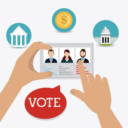 Vote design over white background, vector illustration.