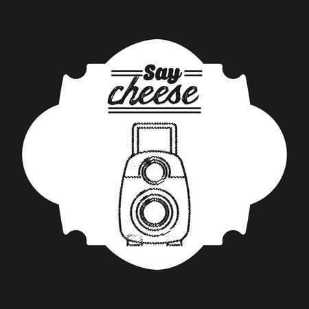 say cheese: camera icon design, vector illustration eps10 graphic