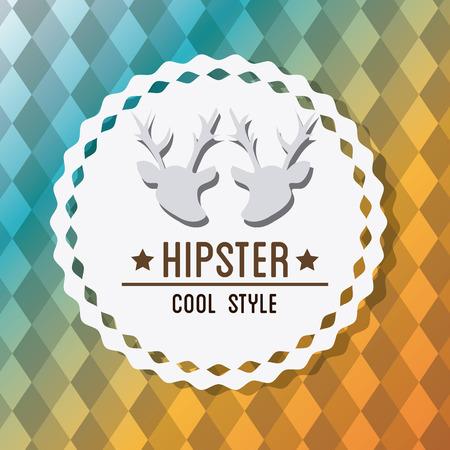 mister: Hipster design over colorful background, vector illustration. Illustration