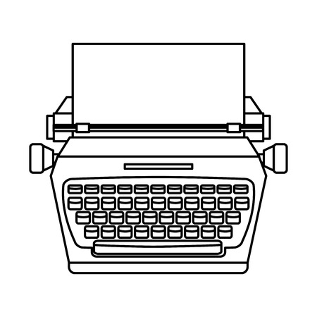 typewrite: old device design, vector illustration eps10 graphic