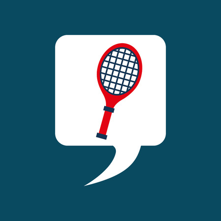 tennis racket: speech bubble design, vector illustration eps10 graphic
