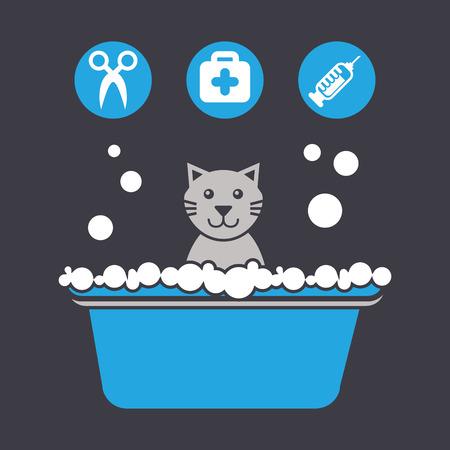 medical shower: mascot concept design, vector illustration eps10 graphic