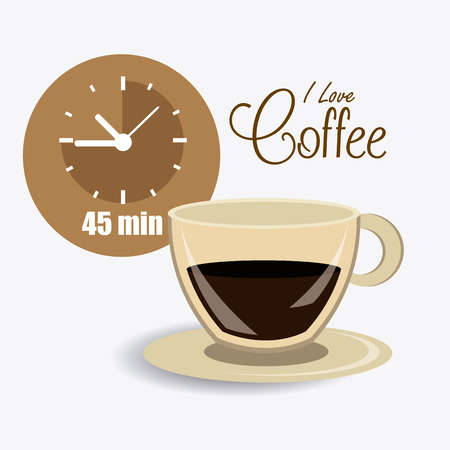 coffee time: Coffee time design over white background, vector illustration.