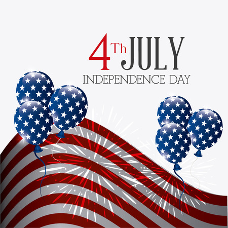 independence day colorful card design, vector illustration.