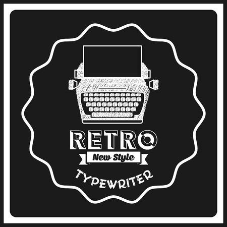 typewrite: retro icon design, vector illustration eps10 graphic Illustration
