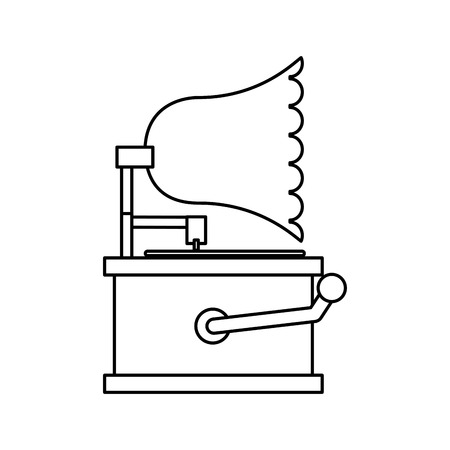 vynil: old device design, vector illustration eps10 graphic