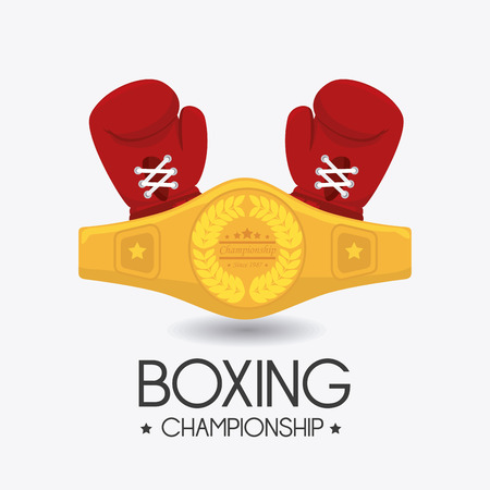 boxing equipment: Boxing design over white background, vector illustration.