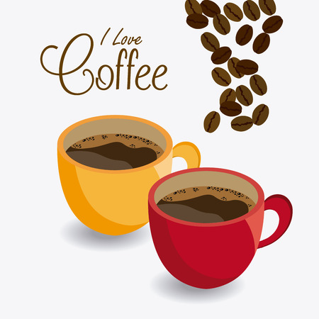Coffee time design over white background, vector illustration.