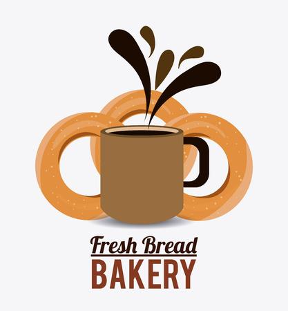 ailment: Dise�o panader�a sobre fondo blanco, ilustraci�n vectorial.