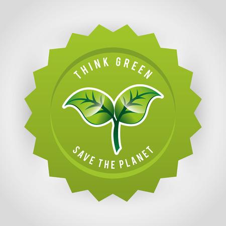 eco-vriendelijk design, vector illustratie eps10 grafische Stock Illustratie