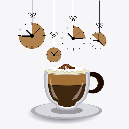 nutriments: Coffee time design over white background, vector illustration.