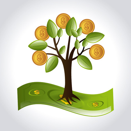 commercial tree care: Money design over white background, vector illustration.