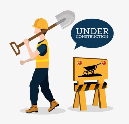 Construction design over white background, vector illustration. Vector