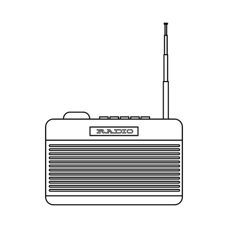 antena: old device design, vector illustration eps10 graphic