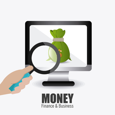 Money design over white background, vector illustration. Vector