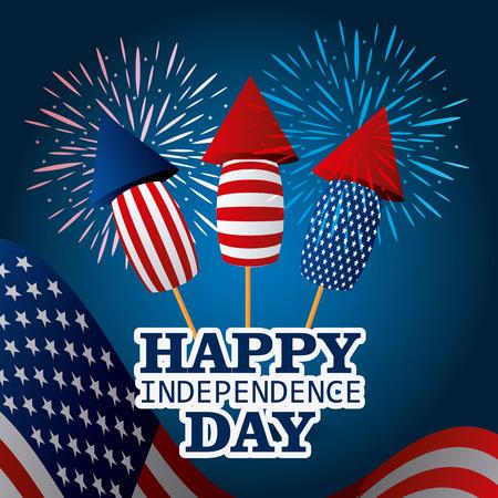 onafhankelijkheidsdag kleurrijke kaart ontwerp, vector afbeelding.