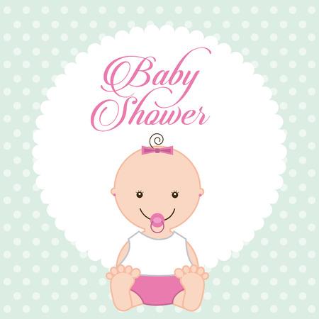 bebé ducha diseño, ilustración vectorial