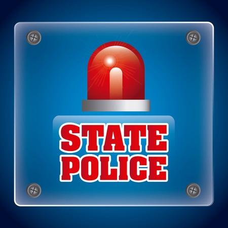 police state: state police design, vector illustration  Illustration