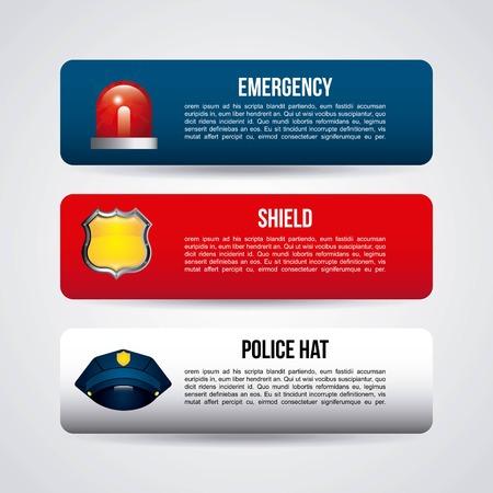 gorra polic�a: el dise�o de la polic�a estatal, ilustraci�n vectorial Vectores