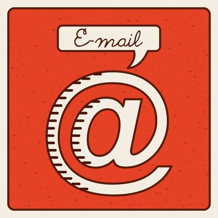 arobase: email icon design, vector illustration  graphic Illustration