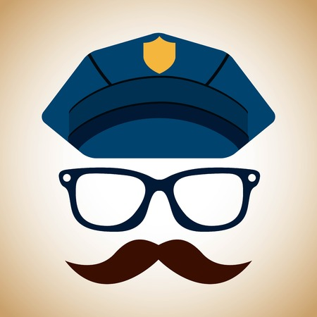 police state: state police design, vector illustration graphic