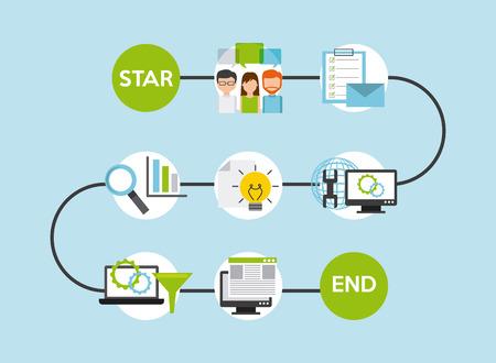 programming software design, vector illustration