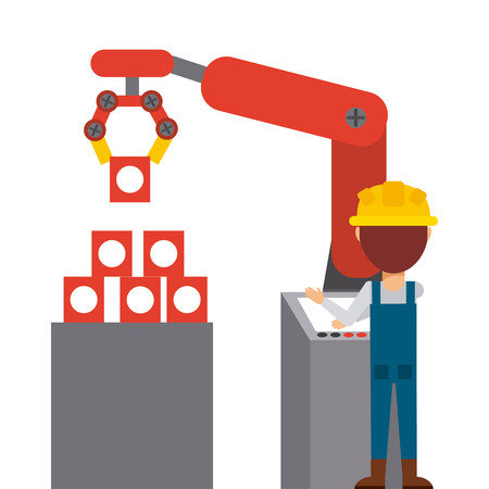 manufacturing occupation: manufacturing icon design, vector illustration