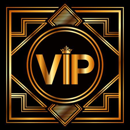 vip symbol: vip card design, vector illustration Illustration