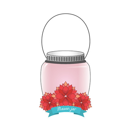 mason: mason jar design, vector illustration eps10 graphic Illustration