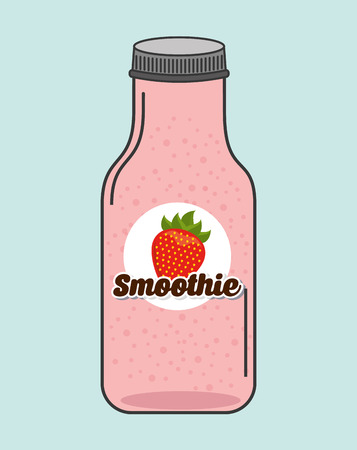 smoothie fruit ontwerp, vector illustratie Stock Illustratie