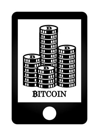 bit: bit coin design, vector illustration graphic Illustration