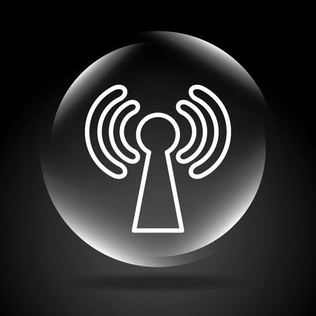 antena: wifi connection design, vector illustration