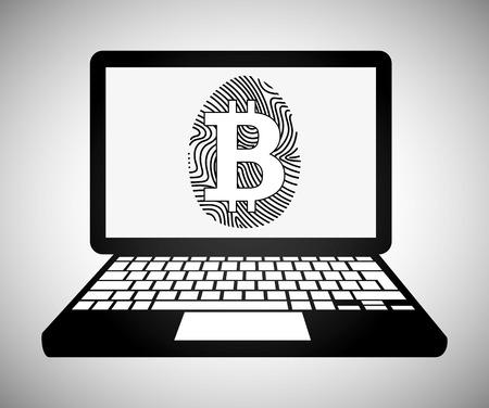 bit coin design, vector illustration